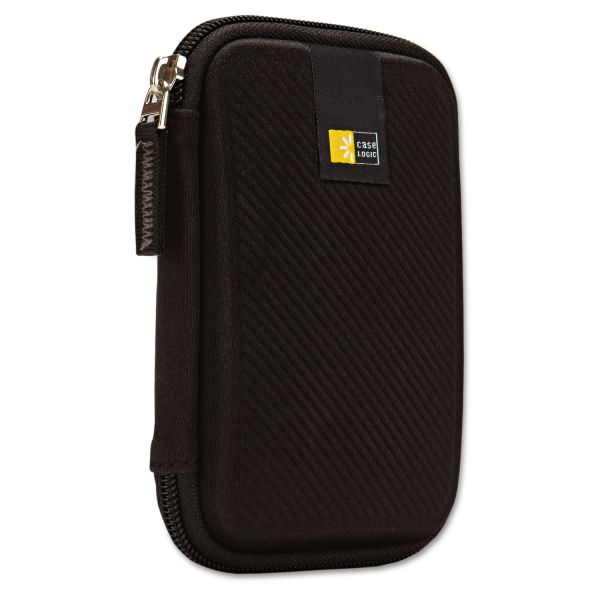 Case Logic Portable Hard Drive Case, Molded EVA, Black