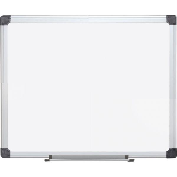 "MasterVision 72"" x 48"" Super Value Magnetic Porcelain Dry Erase Whiteboard"