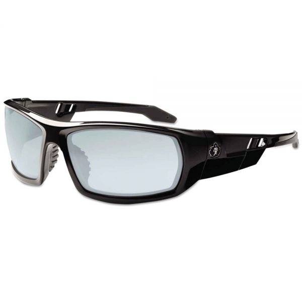ergodyne Skullerz Odin Safety Glasses, Black Frame/Indoor/Outdoor Lens, Nylon/Polycarb