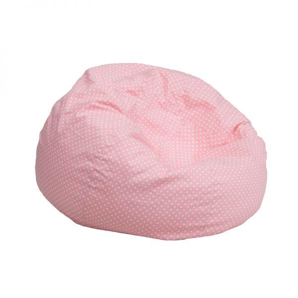 Flash Furniture Small Light Pink Dot Kids Bean Bag Chair