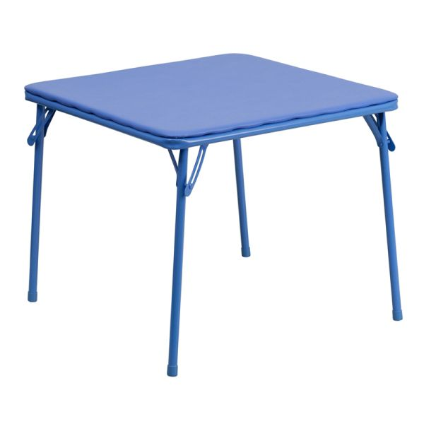 Flash Furniture Kids Blue Folding Table