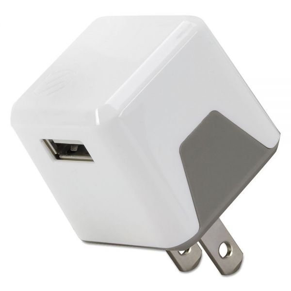 Scosche superCUBE Flip Wall Charger, USB, White