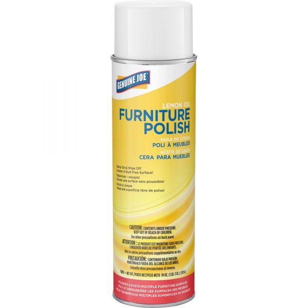 Genuine Joe Lemon Scent Furniture Polish