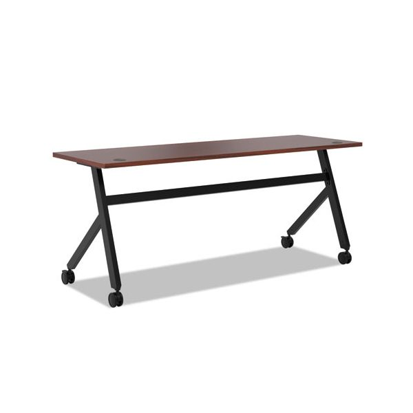 HON Multipurpose Table Fixed Base Table, 72w x 24d x 29 3/8h, Chestnut