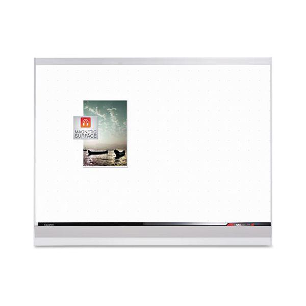 Quartet Porcelain Whiteboard, 96x48, White/Mahogany