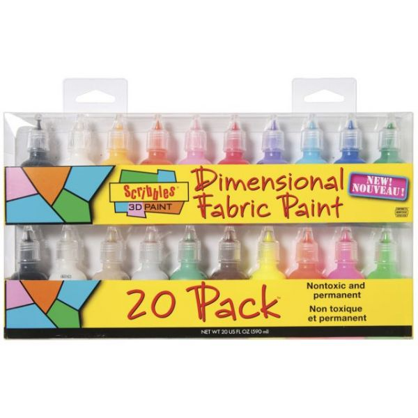 Scribbles 3D Fabric Paint