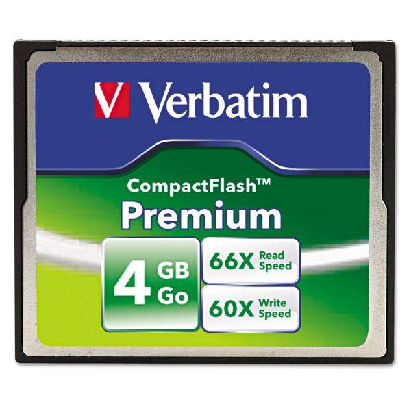 Verbatim Premium 4GB CompactFlash Memory Card