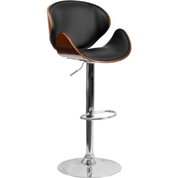 Flash Furniture Bentwood Barstool with Curved Seat and Back