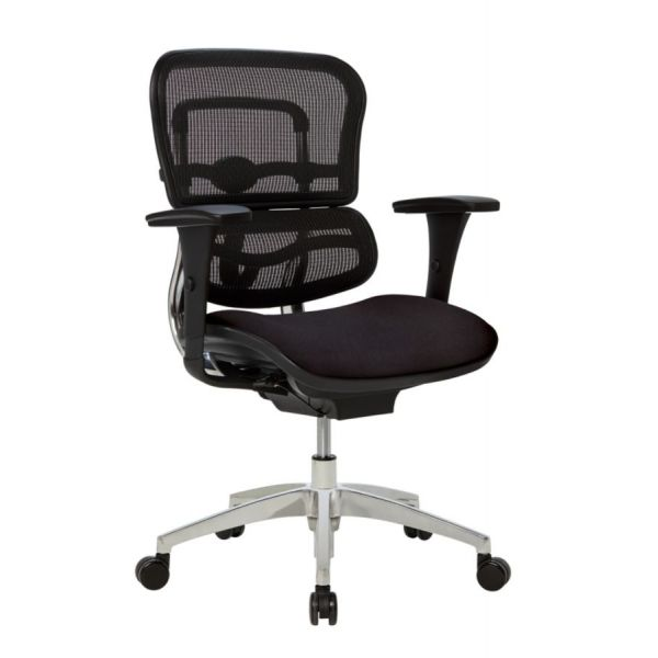 WorkPro 12000 Mesh/Fabric Managerial Mid-Back Chair (Black/Chrome)