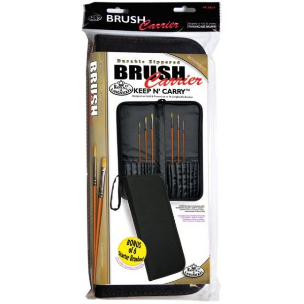 Keep N' Carry Zippered Long Handle Brush Carrier