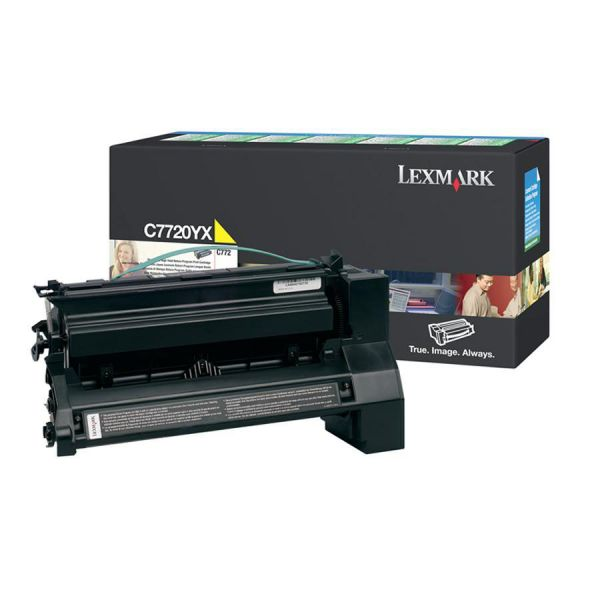 Lexmark C7720YX Yellow Extra High Yield Return Program Toner Cartridge