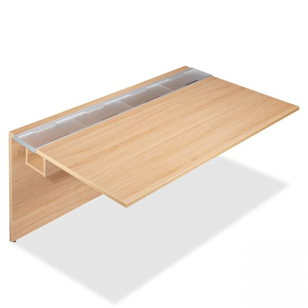 Lorell Concordia Series Latte Laminate Desk Ensemble