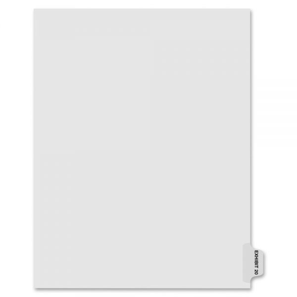 Kleer-Fax 80000 Series Side Tab Legal Exhibit Index Dividers