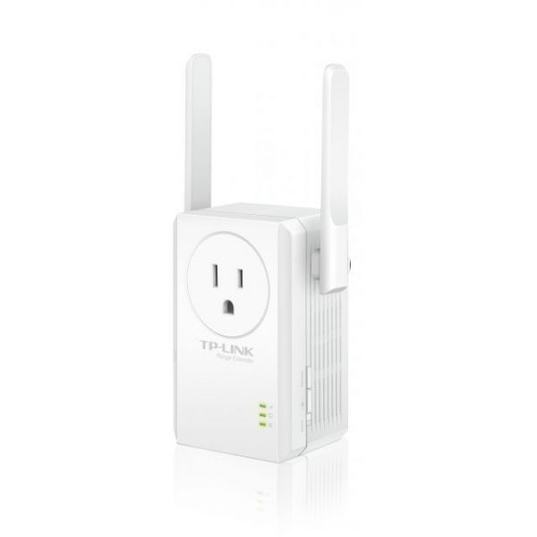TP-LINK TL-WA860RE IEEE 802.11n 300 Mbps N300 Universal Wi-Fi Wall Plug Range Extender with External Antennas and AC Pass-thru
