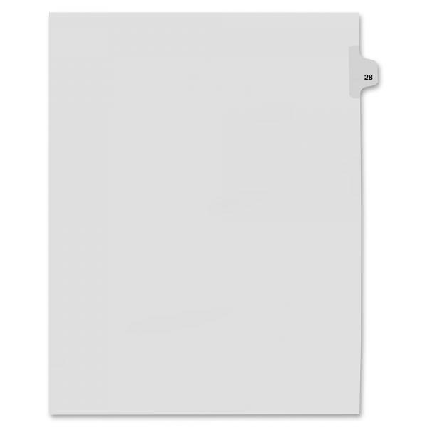 Kleer-Fax 80000 Series Side Tab Legal Index Dividers