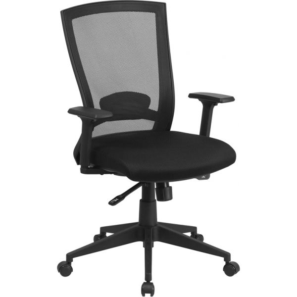 Flash Furniture Mid-Back Mesh Executive Office Chair with Back Angle Adjustment
