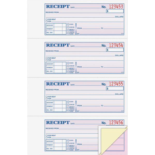 Cardinal Adams Money/Rent 3-Part Receipt Book