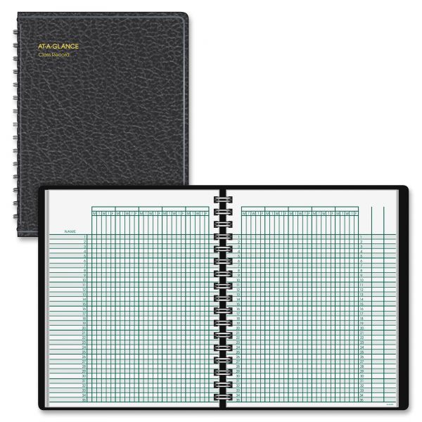 AT-A-GLANCE Undated Class Record Book