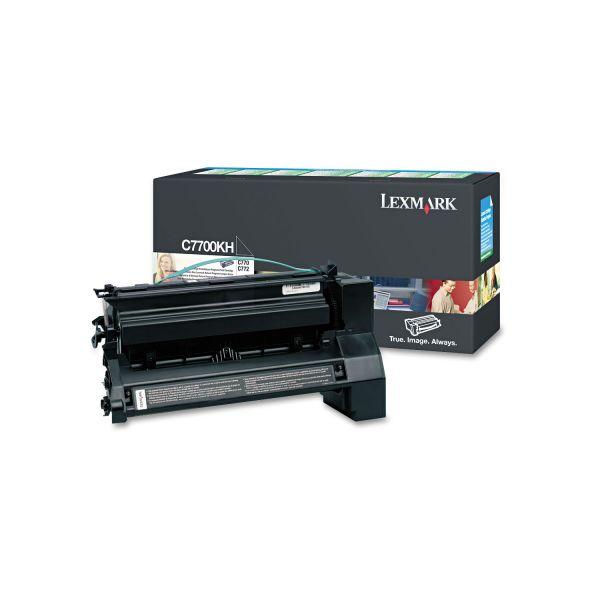 Lexmark C7700KH High-Yield Toner, 10000 Page-Yield, Black