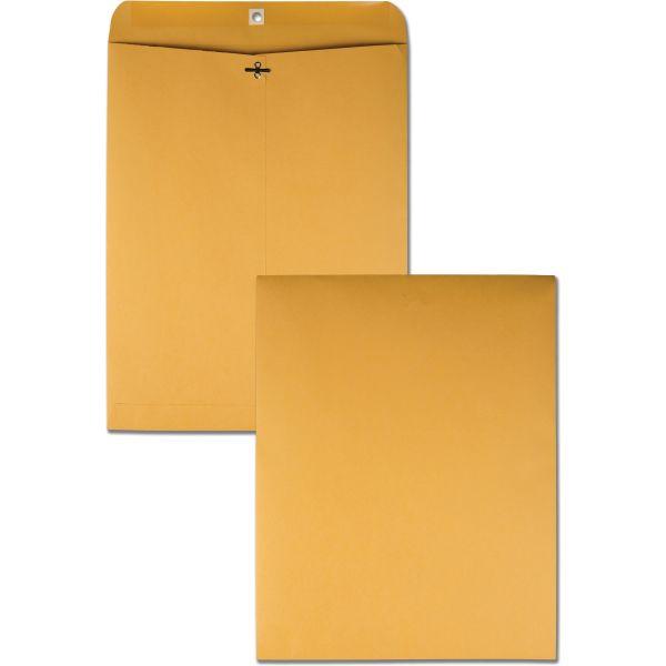 Quality Park Clasp Envelope, 12 x 15 1/2, 32lb, Brown Kraft, 100/Box