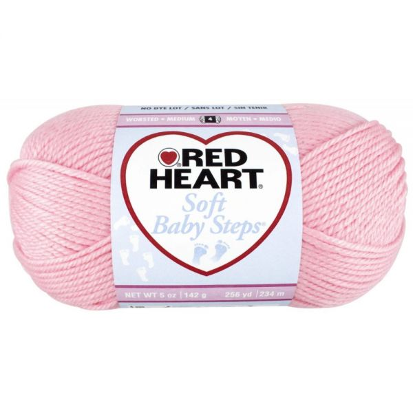 Red Heart Soft Baby Steps Yarn - Baby Pink