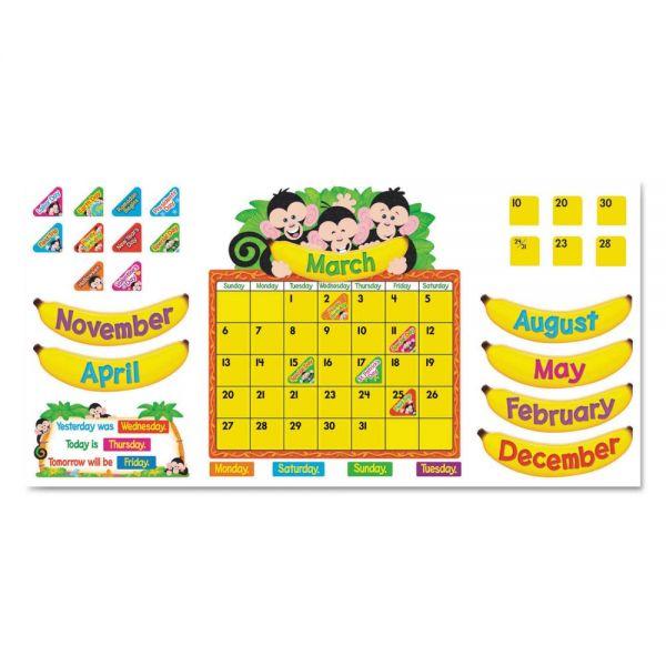 Trend Monkey Mischief Calendar Bulletin Board Set