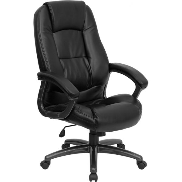 Flash Furniture High Back Leather Executive Swivel Office Chair [GO-7145-BK-GG]