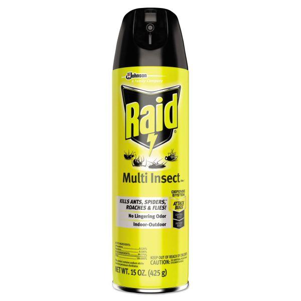 Raid Flying Insect Killer, 15 oz Aerosol Can, 12/Carton
