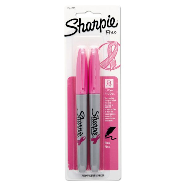 Sharpie Breast Cancer Awareness Fine Point Pink Permanent Markers