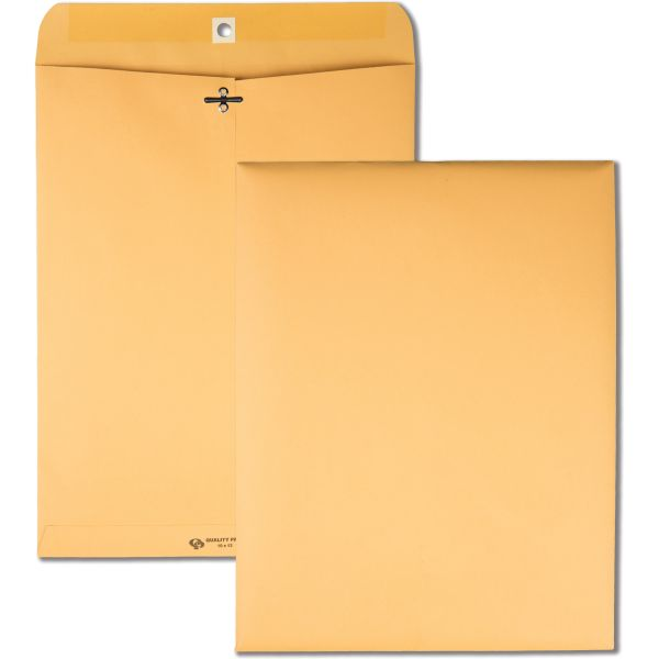 "Quality Park Gummed 10"" x 13"" Clasp Envelopes"