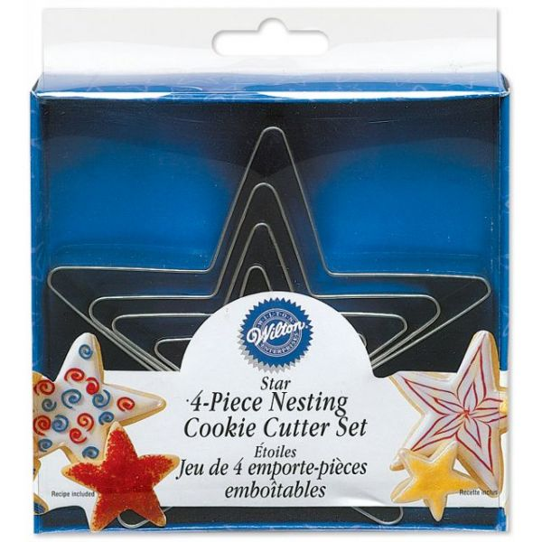 Nesting Metal Cookie Cutter Set 4/Pkg