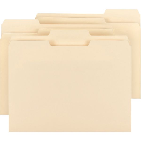 Business Source Top Tab Manila File Folders