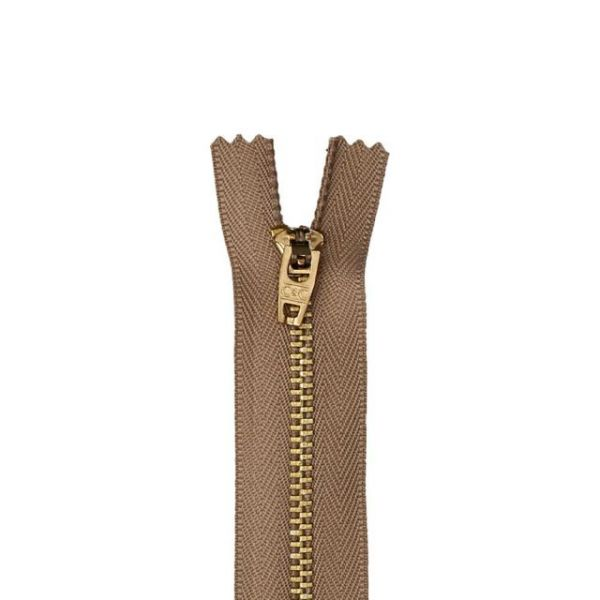 Brass Jean Metal Zipper 7""