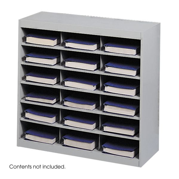 Safco Steel Project Center Organizer, 18 Pockets, 37 1/2 x 15 3/4 x 36 1/2