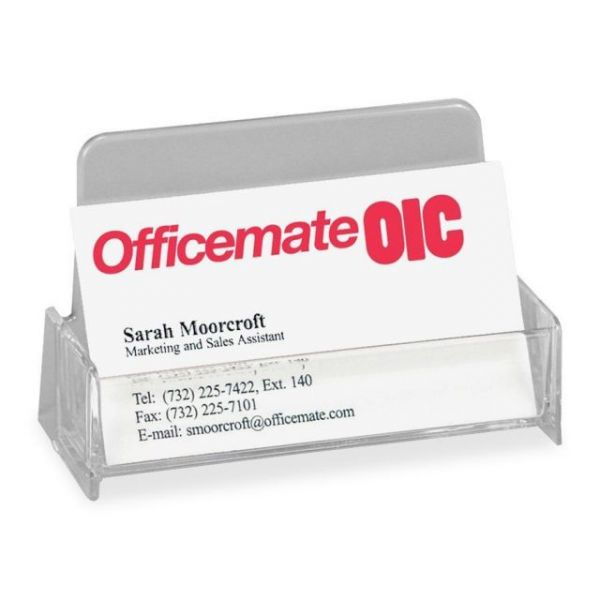 OIC Broad Base Business Card Holders