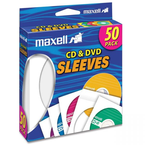 Maxell White CD / DVD Sleeves