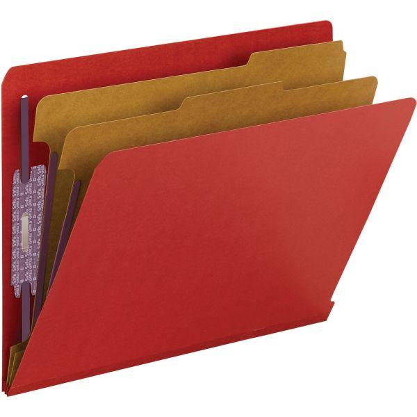 Smead 2-Divider Pressboard Classification Folders