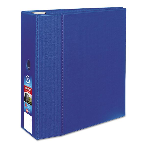 """Avery Heavy-Duty 3-Ring Binder with One Touch EZD Rings, 5"""" Capacity, Blue"""