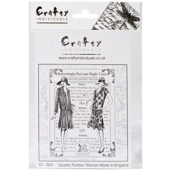 "Crafty Individuals Unmounted Rubber Stamp 4.75""X7"" Pkg"