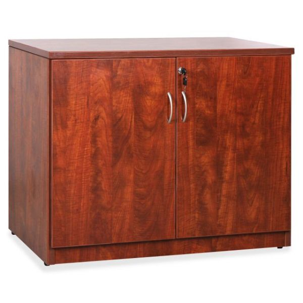 Lorell Essentials Srs Cherry Laminate Storage Cabinet