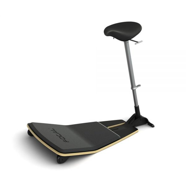 Safco Locus Leaning Seat by Focal Upright - Nuback Cushion