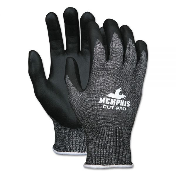 MCR Safety Cut Pro 92723NF Gloves, Salt & Pepper, Small, 1 Dozen