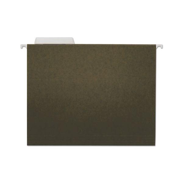 Universal Hanging File Folders, 1/3 Tab, 11 Point Stock, Letter, Standard Green, 25/Box