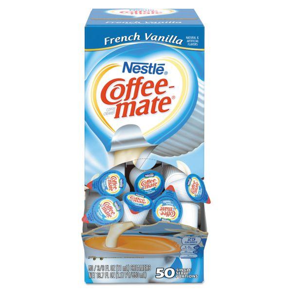 Coffee-mate French Vanilla Creamer, 0.375oz, 50/Box