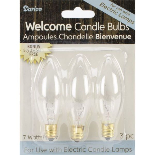 Darice Candle Lamp Collection Welcome Candle Bulbs