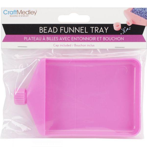 Craft Medley Bead Funnel Tray W/Cap