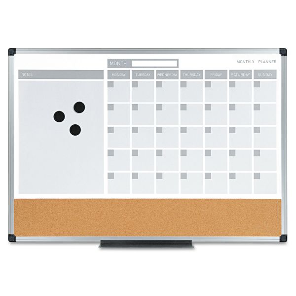 MasterVision MasterVision Combination Planning Board, 24x18, White/Silver