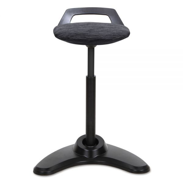 Alera Sit to Stand Perch Stool, Black with Black Base