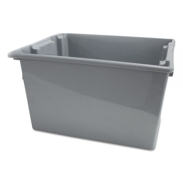 Rubbermaid Commercial Palletote Box, 19.45gal, Gray