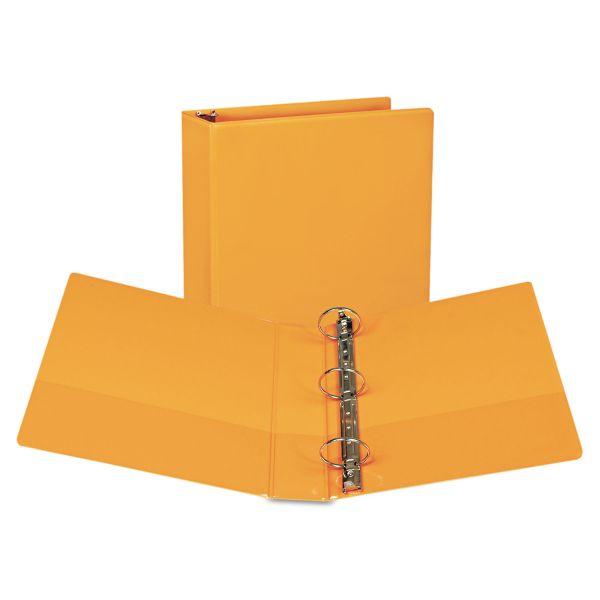 "Samsill Fashion 3-Ring View Binder, 2"" Capacity, Round Ring, Coral, 2/Pack"
